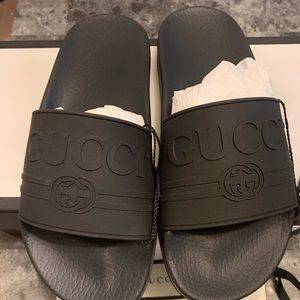 Authentic Gucci Rubber Slides